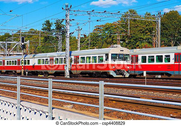 Passenger trains in Finland - csp4408829