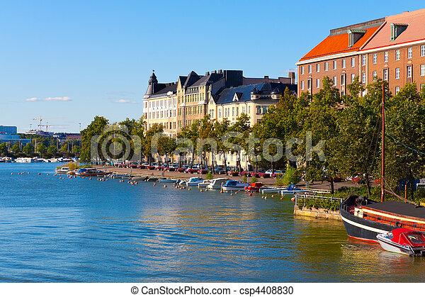 Summer cityscape of Helsinki, Finland - csp4408830
