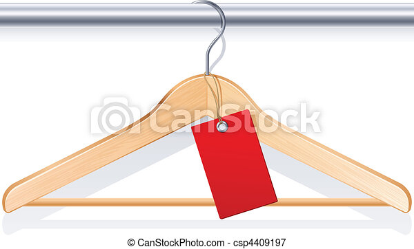 Ilustraciones vectoriales de percha ropa vector - Perchas para ropa de bebe ...