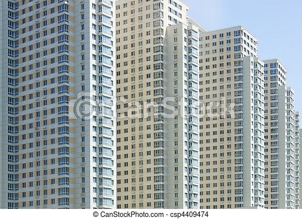 New apartment building - csp4409474