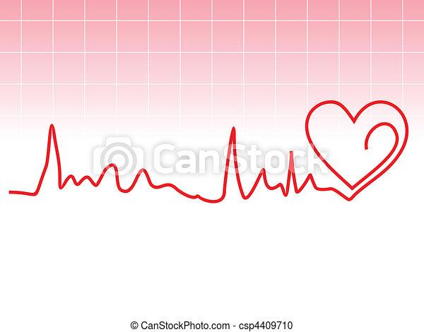 abstract heart beat  - csp4409710