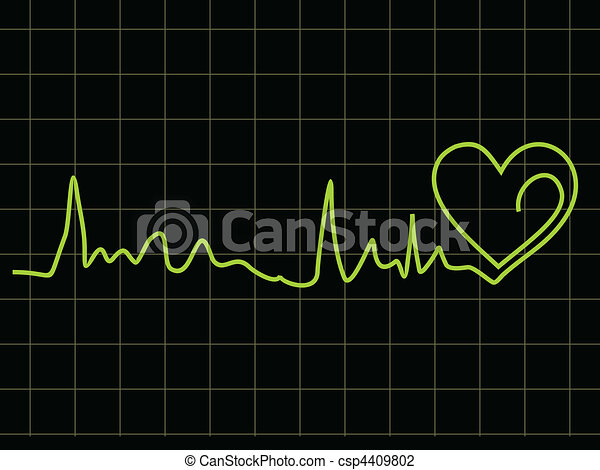 abstract heart beat chart   - csp4409802
