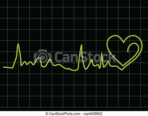 abstract heart beat chart - csp4409802