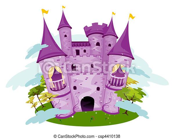 Purple Castle - csp4410138