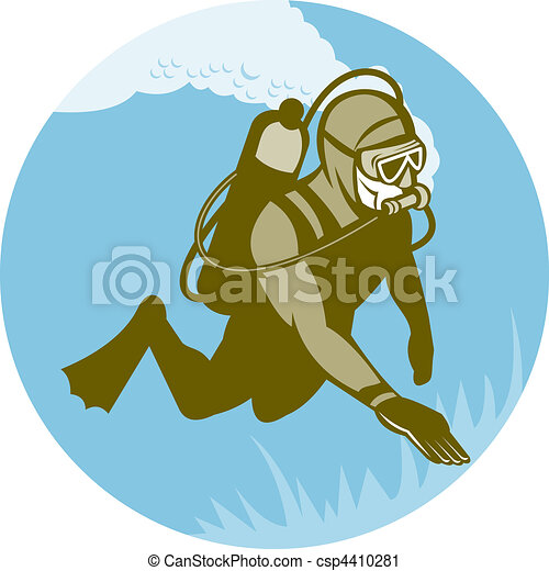 scuba diver diving - csp4410281
