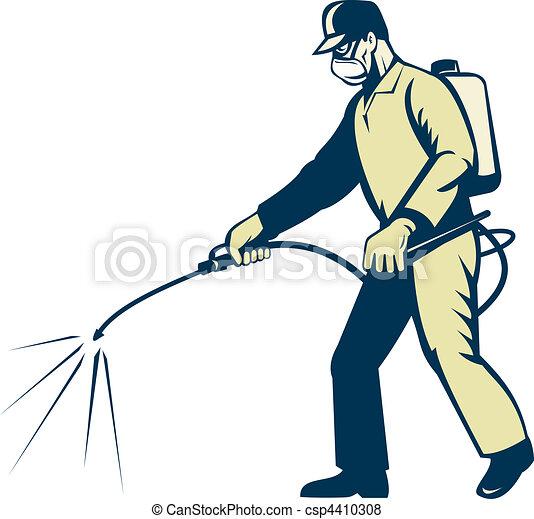 Pest control exterminator worker s - csp4410308