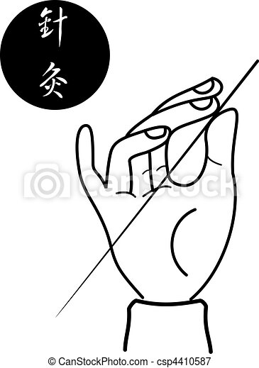 acupuncture of traditional Chinese  - csp4410587