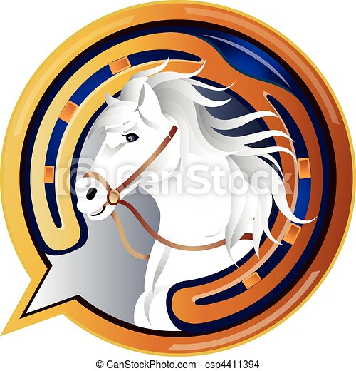 Jockey Horse Icon - csp4411394