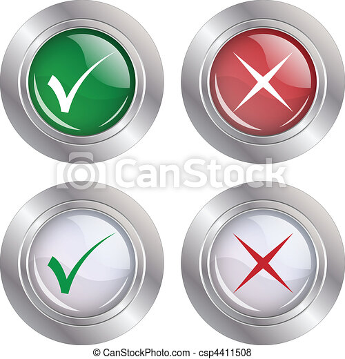 Button Check mark-Cancel - csp4411508