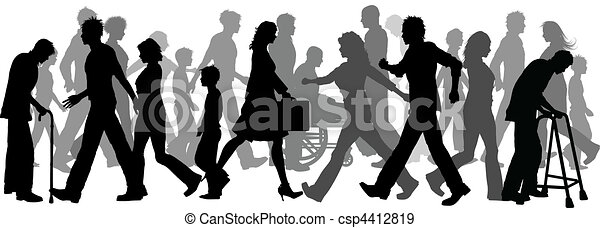 People walking - csp4412819