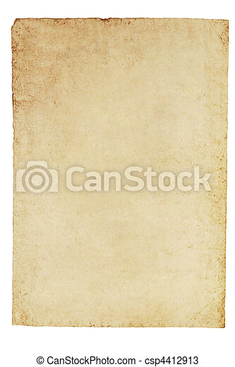 Old Parchment Paper Background - csp4412913