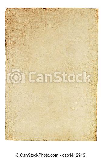 Old Parchment Paper Background - csp4412913