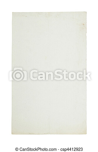 Old sheet of paper - csp4412923