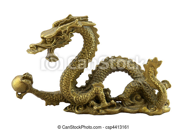 Chinese imperial dragon - csp4413161