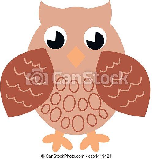 a brown single owl - csp4413421
