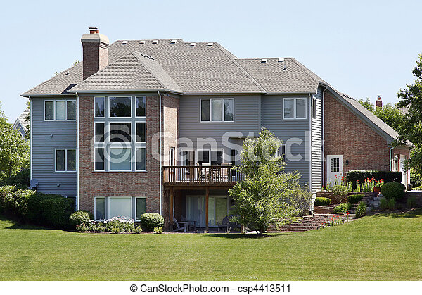 Home with second story deck - csp4413511