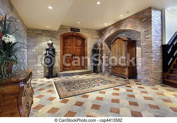 Basement foyer area - csp4413582