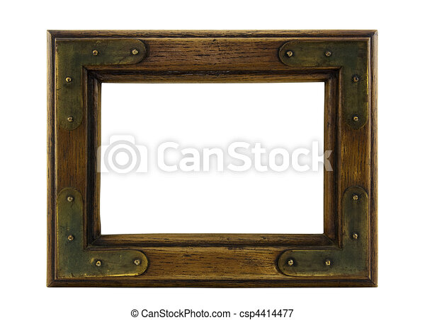Old wooden picture frame - csp4414477