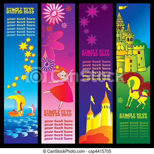 Fairy-tale banners. - csp4415705