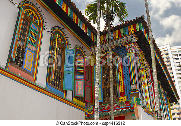 Historic Colorful Peranakan House 2 - csp4416312