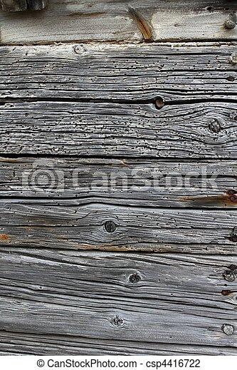 Stock Foto van Oud, verweerd, Grijs, okd, ouderwetse, hout, muur, deur ...
