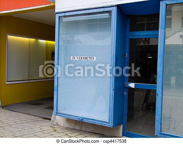 Empty Premises for Rent - csp4417538