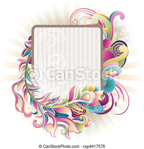 floral border - csp4417578