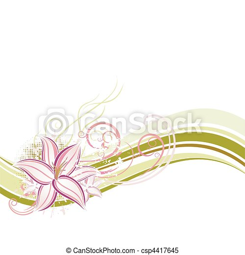 vector floral design - csp4417645