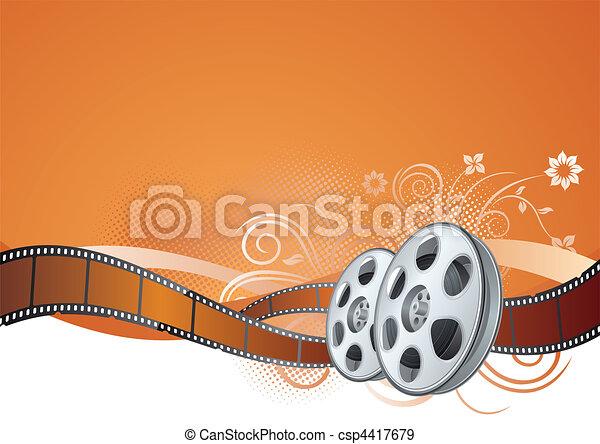film strip, movie theme element - csp4417679