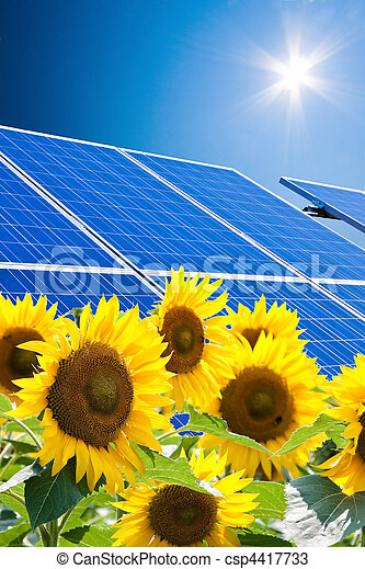 Alternative Solar Energy. Solar power plant. - csp4417733