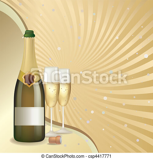 celebration with champagne - csp4417771