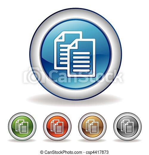vector document icon - csp4417873