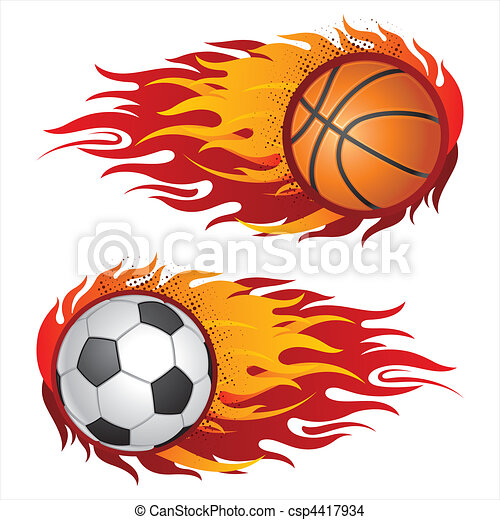 sports equipment with flames - csp4417934