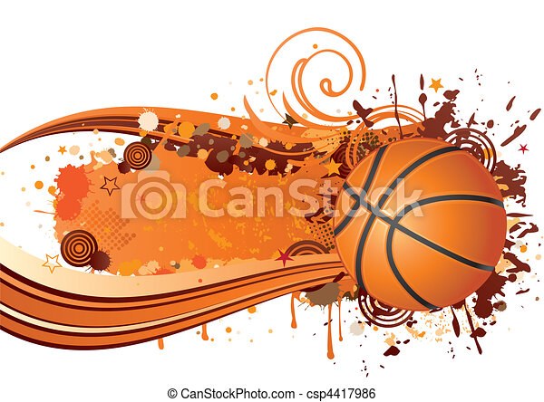 basketball background design - csp4417986