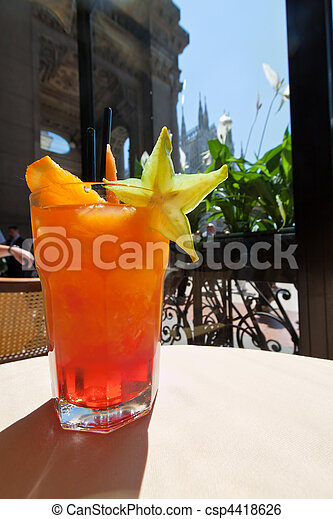 Campari Orange in the Galleria Emanuele in Milan - csp4418626