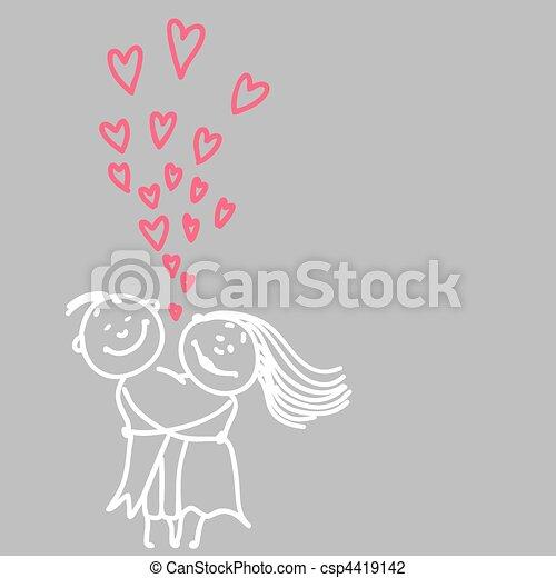 cute romantic couple - csp4419142