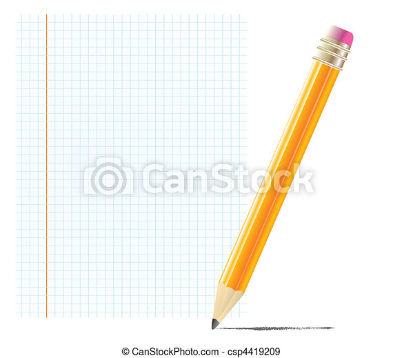 pencil with blank paper - csp4419209