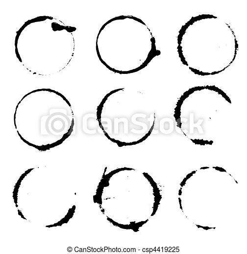 set of coffee stains - csp4419225
