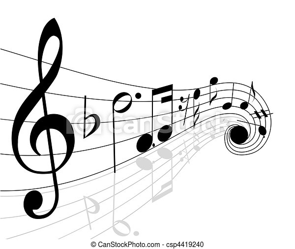 musical notes - csp4419240
