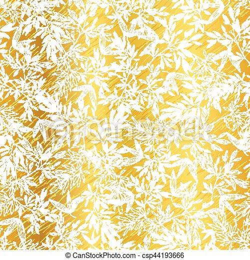 Clip art vektor von goldenes gro stoff muster bl tter - Tapete asiatisch ...
