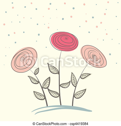 bouquet of flowers - csp4419384