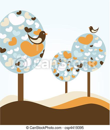 love trees  - csp4419395