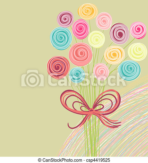 abstract bouquet of flowers  - csp4419525
