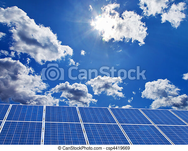 Solar power plant for solar energy - csp4419669