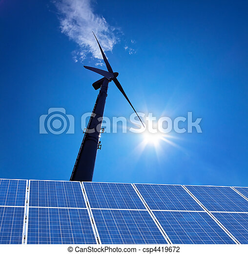Wind Energy Alternative energy flow through turbine - csp4419672