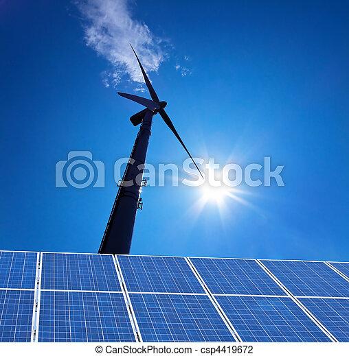 Wind Energy Alternative energy flow through turbine - csp4419672