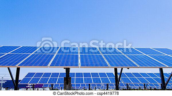 Alternative Solar Energy. Solar power plant. - csp4419778