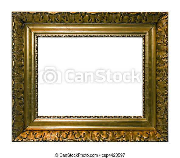 anticaglia, immagine, cornice - csp4420597