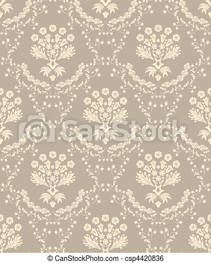 seamless damask pattern - csp4420836