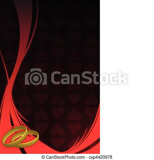 Wedding card background with wedding rings Vector file available Save Comp
